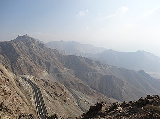 Hijaz Mountains - A road in the mountains from Mecca to Ta'if