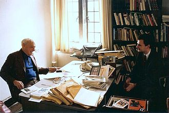 Dejan Stojanović - Saul Bellow and Dejan Stojanović, University of Chicago, 1992
