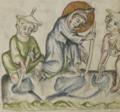 Sbs-0008 027r Jesus fängt mit anderen Kindern am Sabbat Fische.TIF