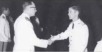 Juan Schiaretti - Schiaretti during his 1965 graduation from the General Paz Military Lyceum
