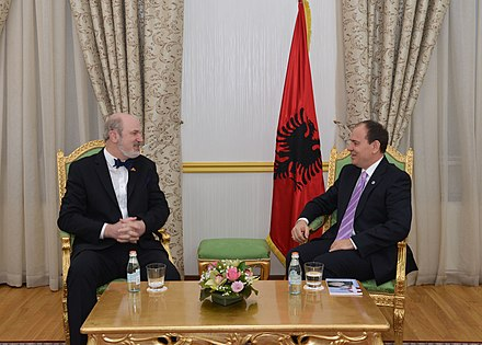 Schirrmacher at the President of Albania 2015 Schirrmacher at the President of Albania 2015.jpg