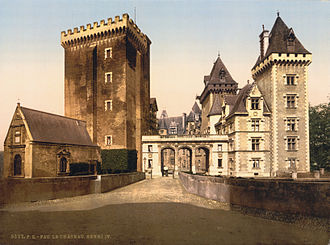 Succession of Henry IV of France - Château of Pau, where Henry of Navarre was born in 1553