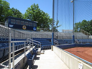 Kent State Golden Flashes baseball - Schoonover Stadium stands in 2014