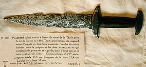 Swiss dagger - Swiss dagger, early 16th century, found in the Thielle river.