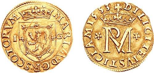 Scottish 22 shillings coin 1553