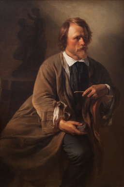 Sculptor Jens Adolf Jerichau, the Artist's Husband, by Elisabeth Jerichau Baumann, 1846 - Statens Museum for Kunst