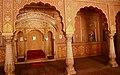 Seat of Maharaja, Diwan-e-khas, Anup Mahal, Junagarh Fort, Bikaner.jpg