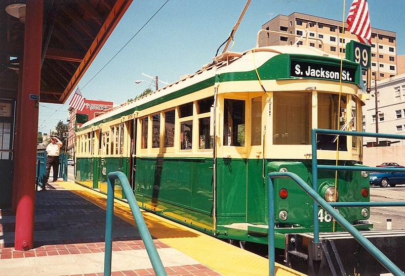 File:Seattle-Waterfront-Steetcar at S. Jackson St. (1996).jpg