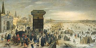 Flanders - Winter scene by Sebastian Vrancx, 1622