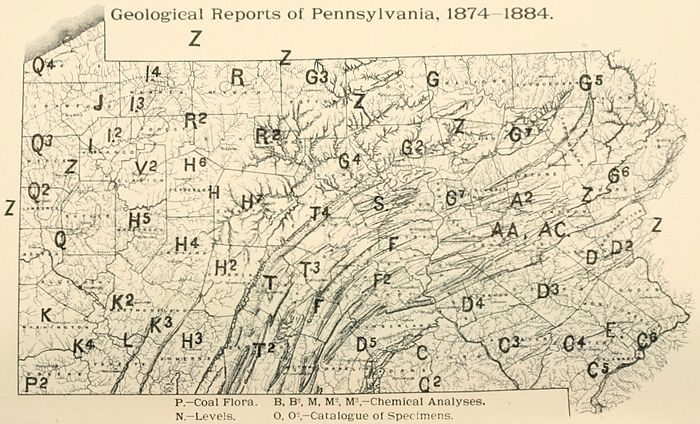 Second Geological Survey of Pennsylvania. Report of Progress ... on census bureau maps, geological map for flint, topographic survey maps,