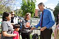 Secretary duncan greets staff from Mundo Verde.jpg