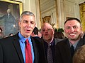 Secretary of Education Arne Duncan, Oregon State Teacher of the Year and his husband, Mike Turay at the White House, May 1, 2014.jpg