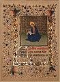 Seguace dei fratelli limborug, pagina da un libro d'ore con san matteo, 1415-20 ca.jpg