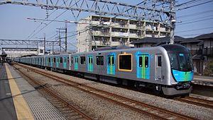 Seibu Ikebukuro Line - Image: Seibu 40102 S Train 2 Bushi Station 20170325