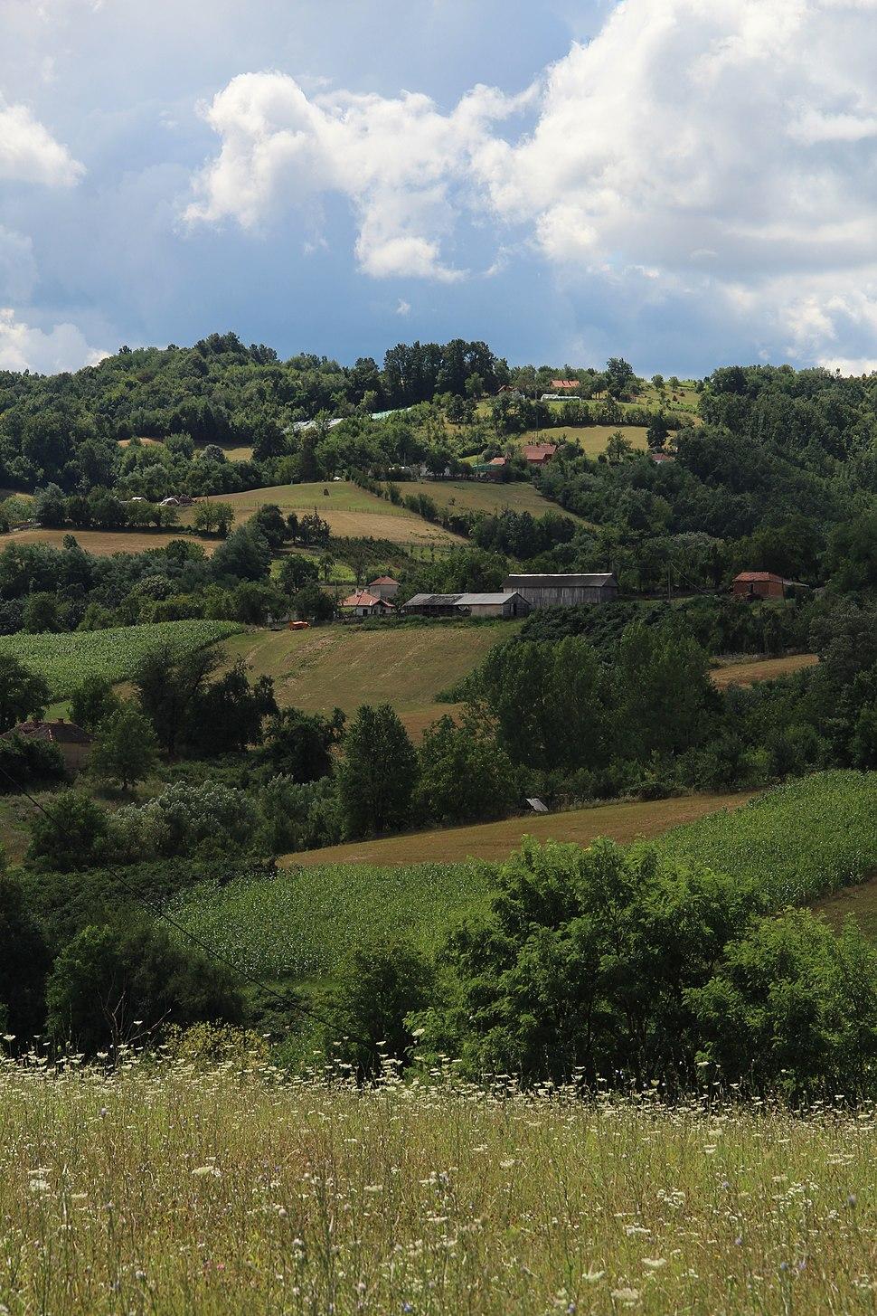 Selo Pričević - opština Valjevo - zapadna Srbija - panorama 2