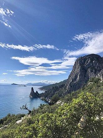 Selvaggio Blu (Sardinia) - Day one: the peak of Pedra Longa and the coastal town of Santa Maria Navarrese.