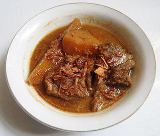Semur (Indonesian stew) Indonesian meat stew