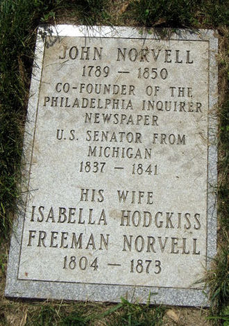 Elmwood Cemetery (Detroit, Michigan) - Marker of John Norvell's grave