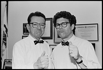 Al Franken - Franken with Senator Paul Simon in 1991