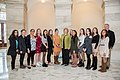 Senator Stabenow meets with students from Grosse Pointe North High School (33086885721).jpg