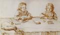 Serafino y Francesco Falsacapa estudiando en la mesa.png