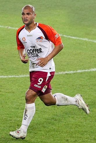 Sergio van Dijk - Van Dijk playing for Brisbane Roar in 2008