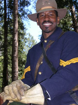 Shelton Johnson - Shelton Johnson in the uniform of a Buffalo Soldier