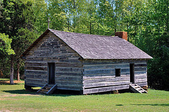 Battle of Shiloh - Shiloh Church at Shiloh National Military Park, 2006. The original church building did not survive the battle. The present-day structure is a reconstruction erected in 2003 on the historical site by the Tennessee Sons of Confederate Veterans organization.