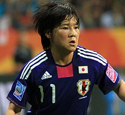 Ohno playing for Japan in the 2011 World Cup