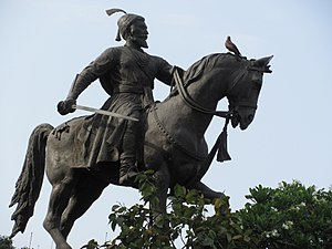 Indian martial arts - Statue of Shivaji, the warrior-king who brought the Maratha people and fighting style to prominence