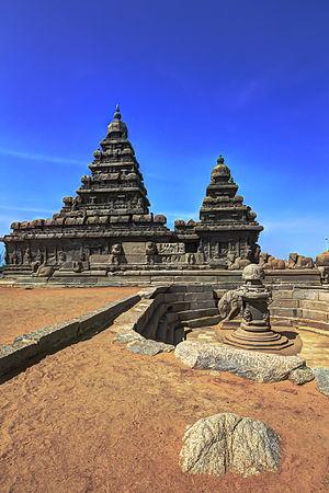 Shore Temple - Shore temple, Mahabalipuram, India.