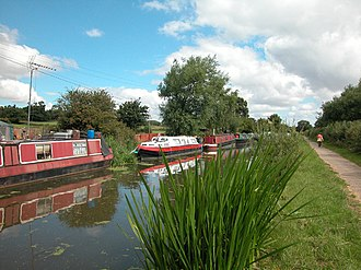 Wervin - Image: Shropshire Union Canal Moorings geograph.org.uk 34718