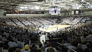 Siegel Center - Interior look at the Siegel Center during a men's basketball white out.