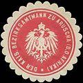 Siegelmarke Bezirksamtmann zu Aruscha W0337613.jpg