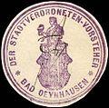 Siegelmarke Der Stadtverordneten - Vorsteher - Bad Oeynhausen W0217094.jpg