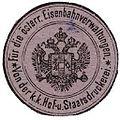 Siegelmarke Für die österreichische Eisenbahnverwaltungen von der Kaiserlich Königlichen Hof - und Staatsdruckerei W0229600.jpg