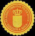 Siegelmarke Gr. Landes Commisär für die Kreise Karlsruhe & Baden W0361907.jpg