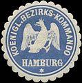 Siegelmarke K. Bezirks-Kommando Hamburg W0344034.jpg