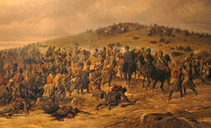 Second Schleswig War - Austrian illustration of the battle for Königshügel