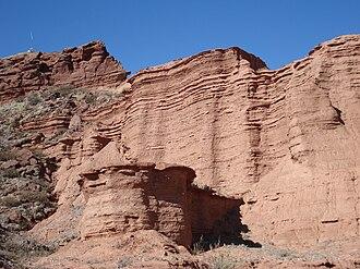 Argentine Monte - Rock wall in Sierra de las Quijadas National Park