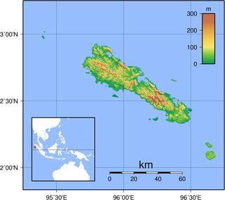 Simeulue Island in Indonesia