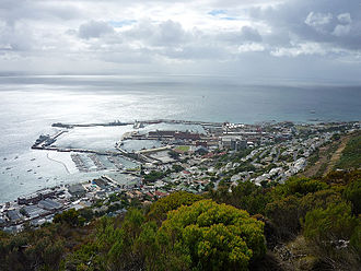South African Navy - A view of Simon's Town and the naval base