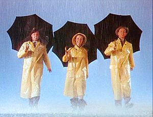 Stanley Donen - Kelly, Reynolds and O'Connor in the opening titles of Singin' in the Rain