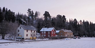 Singsås - View of the village from Singsås Station