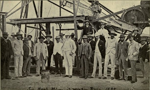 Hugh Nelson (Australian politician) - Sir Hugh Nelson (centre, in white) visited Winton in 1895. Here he is seen at the town's artesian bore.