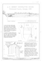 Site Plan and Northeast Excavation - Arthur Holmes Merry Generator House, Signal Lake North of Range Road, Fort Gordon, Richmond County, GA HAER GA-92 (sheet 1 of 2).png