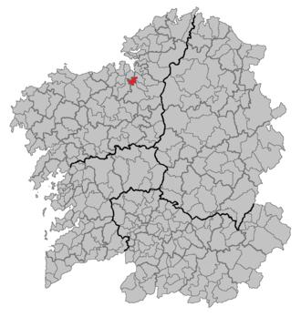 Betanzos - Image: Situacion Betanzos