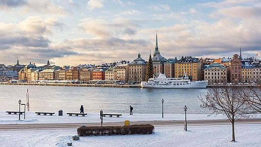 Skeppsbrokajen Gamla Stan from Skeppsholmen Stockholm