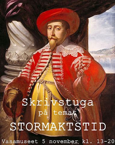 Gustaf II Adolf, information om tid och plats för skrivstugan