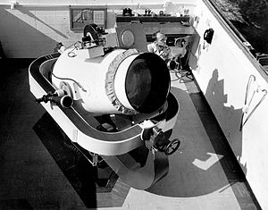 Operation Moonwatch - The Baker-Nunn satellite tracking camera.